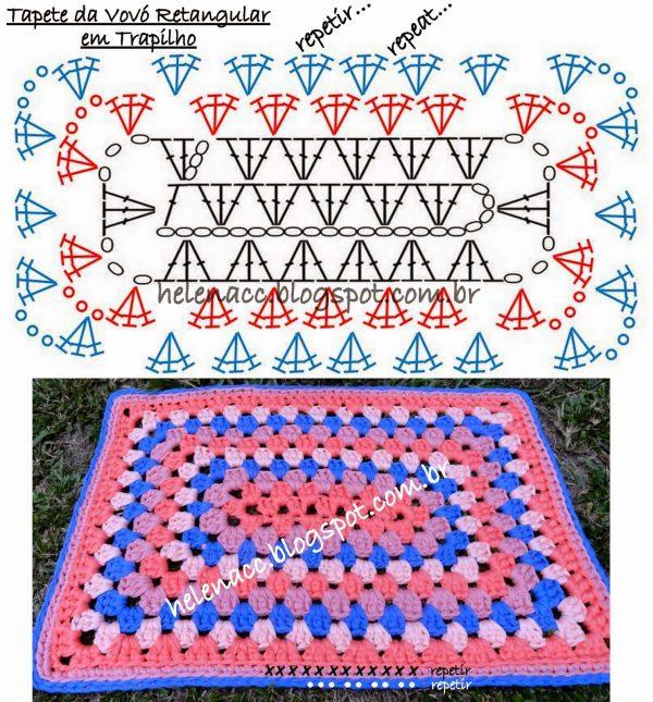 Как связать прямоугольный коврик