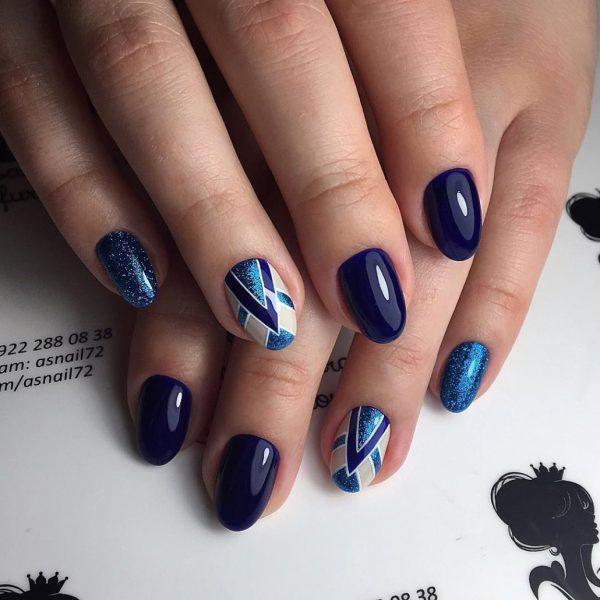 Нейл-арт синих оттенков