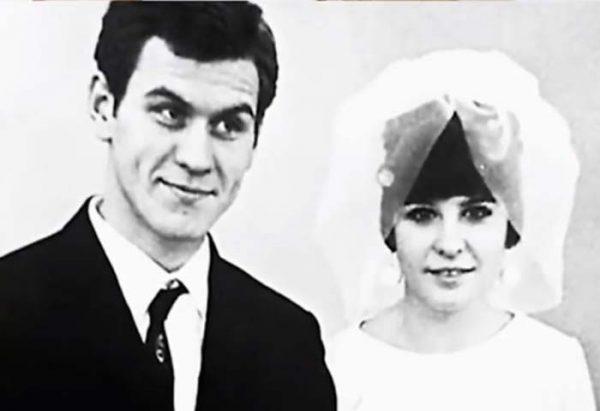 Актер с первой женой Лилией