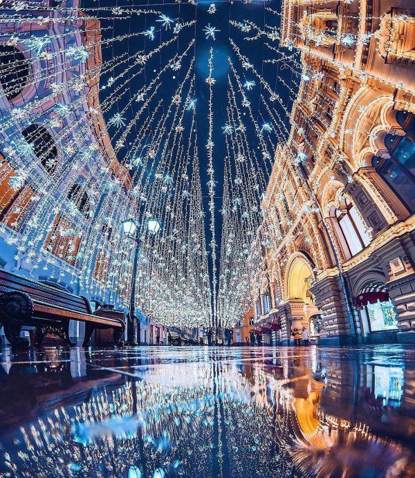 Огни столицы в новогодние праздники