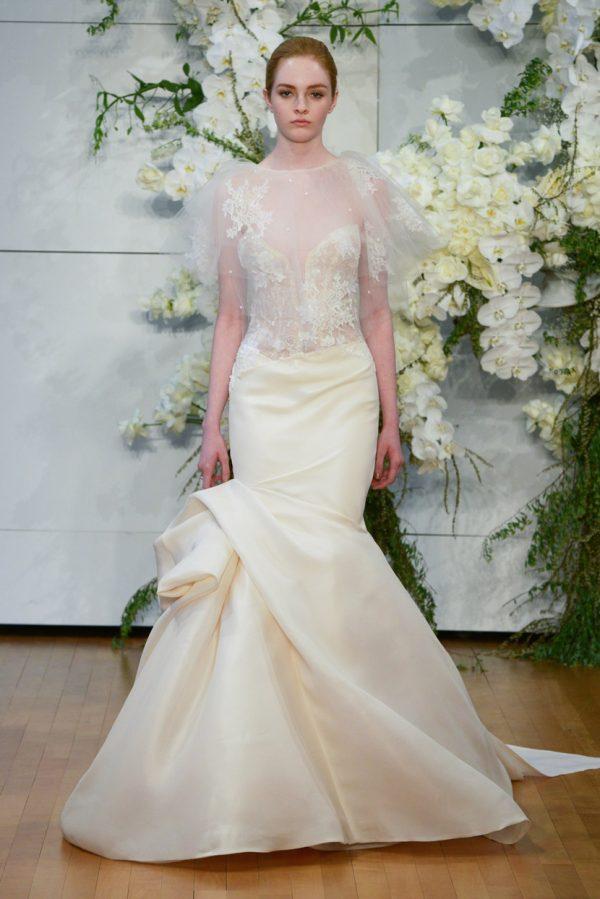 Свадебное платье с необычным низом