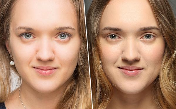 Фото до и после проведения татуажа