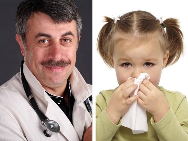 Что думает доктор Комаровский о лечении зеленых соплей у детей