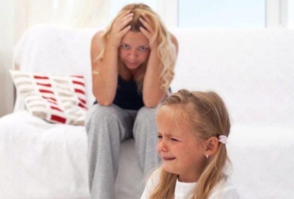 Часто от истерик ребенка нервничают и сами родители