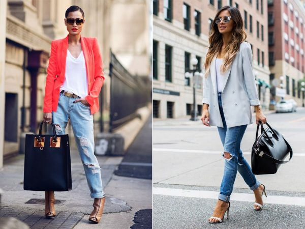 Женские бойфренды с пиджаками