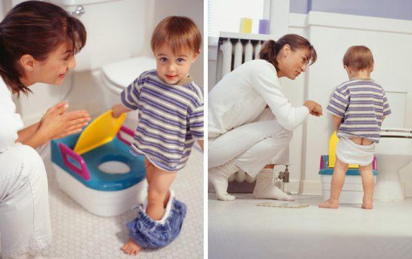 Научившись контролировать свою мочеиспускательную систему ребенок сам сядет на горшок