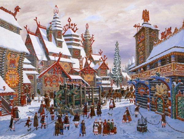 Гуляния в канун Рождества