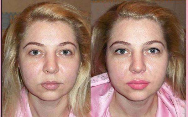 Татуаж губ с растушевкой: фото до и после