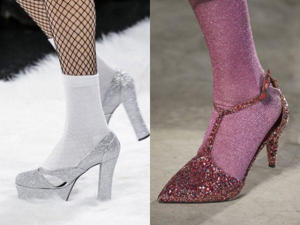 Модная блестящая обувь