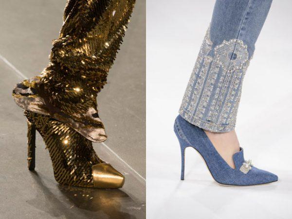 Женские туфли подходящие под одежду