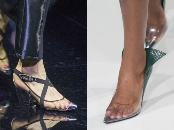 Модные прозрачные туфли