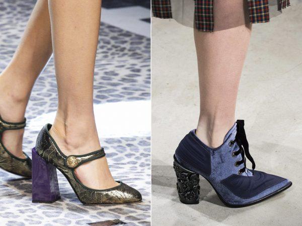 Обувь на необычном каблуке