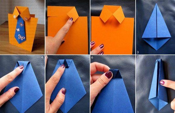 Как сделать открытку в виде рубашки