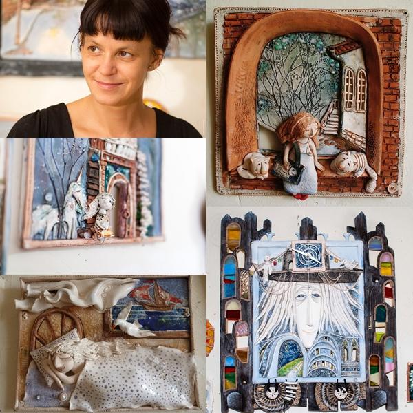 Сказочная выставка работ из глины и дерева