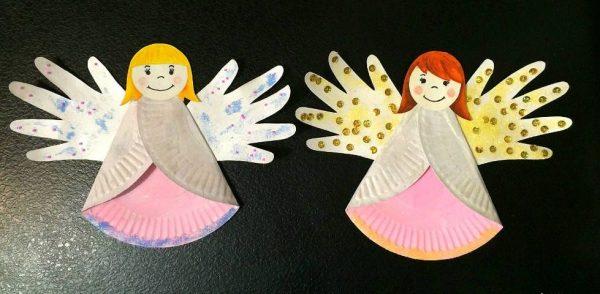 Как сделать ангела из пластиковых тарелок