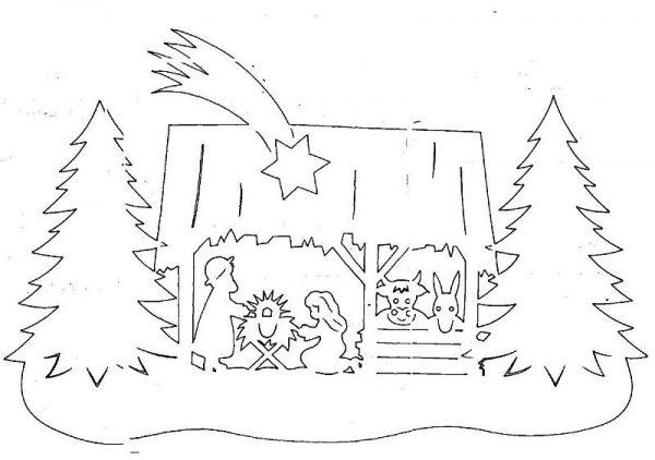 Оригинальная вытынанка на Рождество
