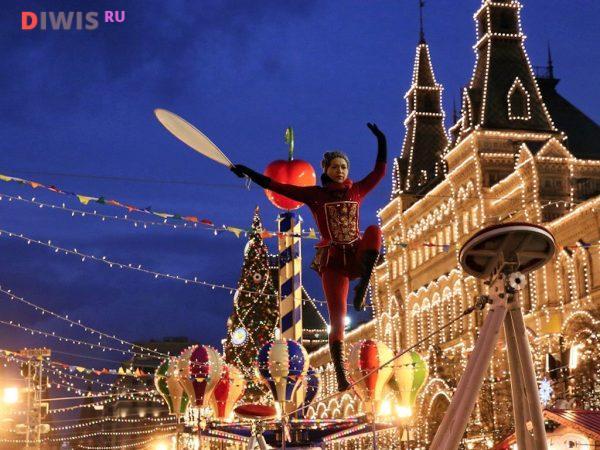 Новогодние развлечения на Красной площади