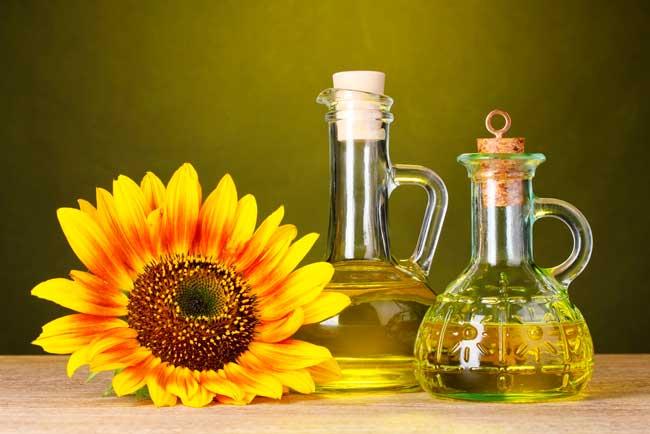 Нерафинированное подсолнечное масло, фото