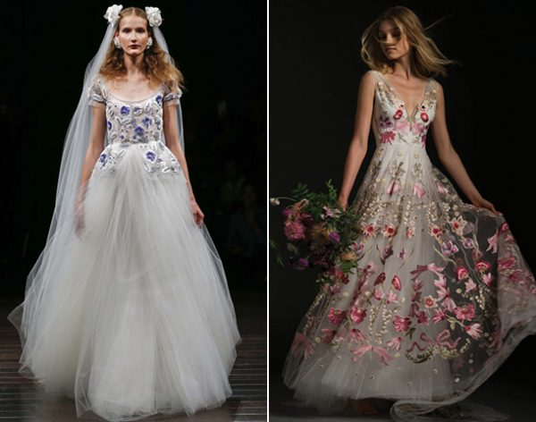Свадебные наряды с вышивкой