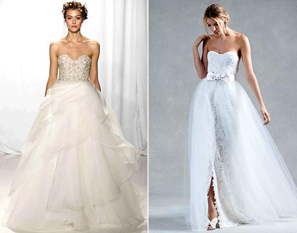 Свадебные платья бюстье