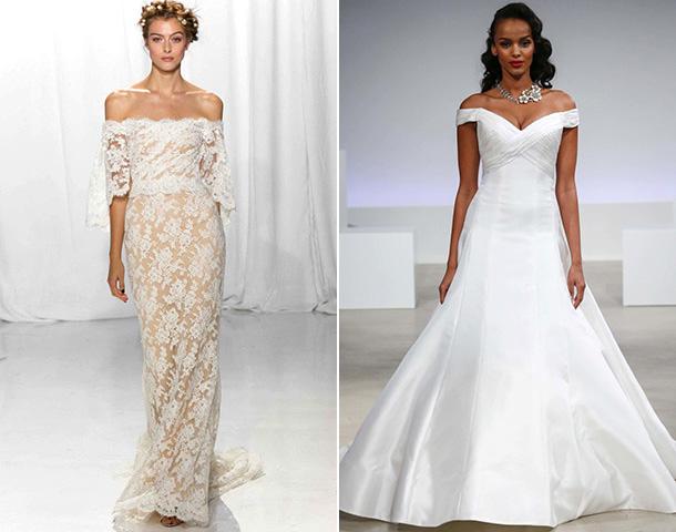 Модели платьев с открытыми плечами