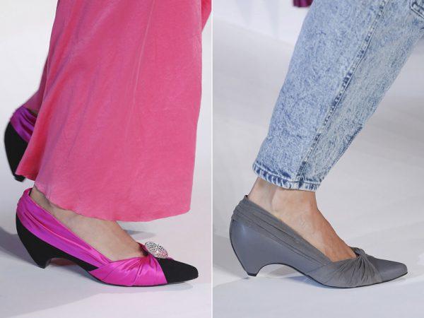 Туфли лодочки без каблука