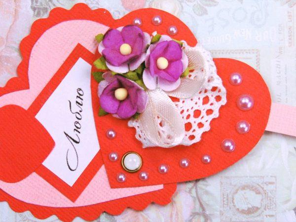 Ажурные валентинки из бумаги