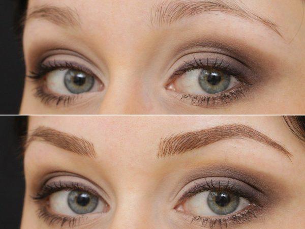Волосковый татуаж бровей: фото до и после