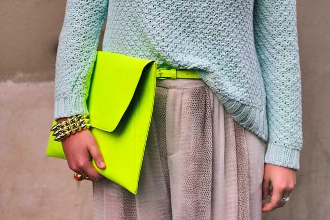 Неоновый цвет сумки