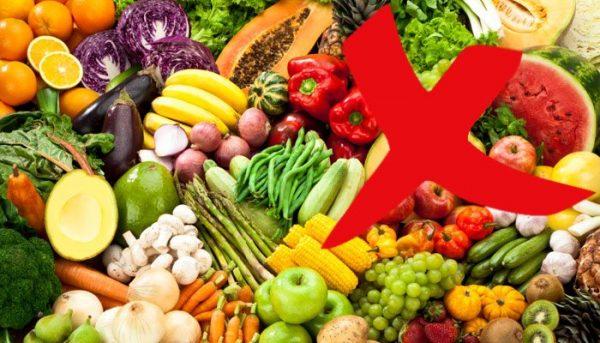 Свежие фрукты и овощи также следует исключить из рациона перед УЗИ