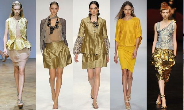 Золотые сочетания в одежде