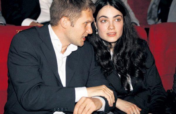 С бывшей гражданской женой Сессиль Свердловой