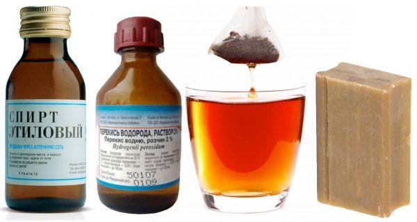 Ингредиенты для создания средства от запаха мочи