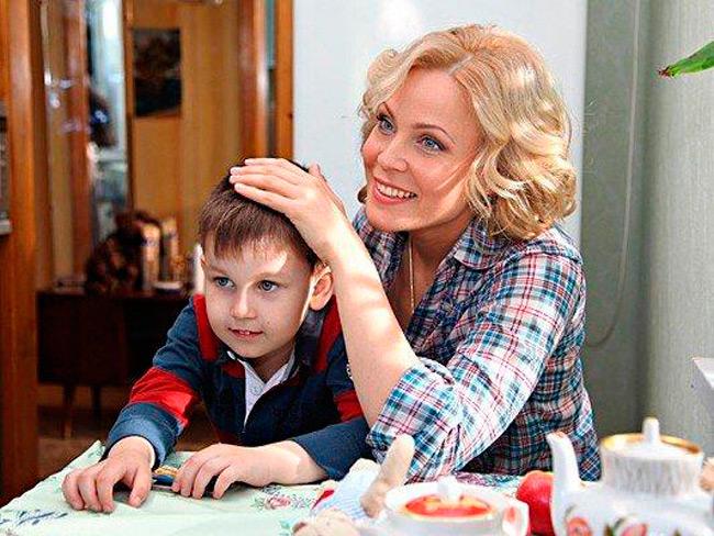 Мария Куликова с сыном