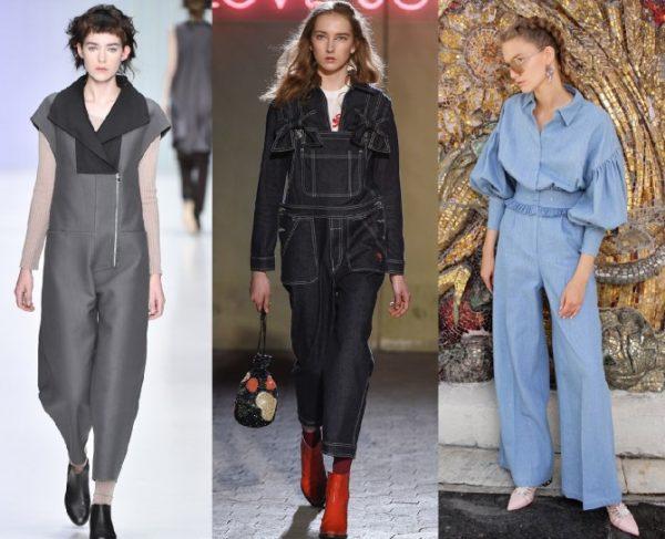Модные комбинезоны весна-лето 2018 для женщин