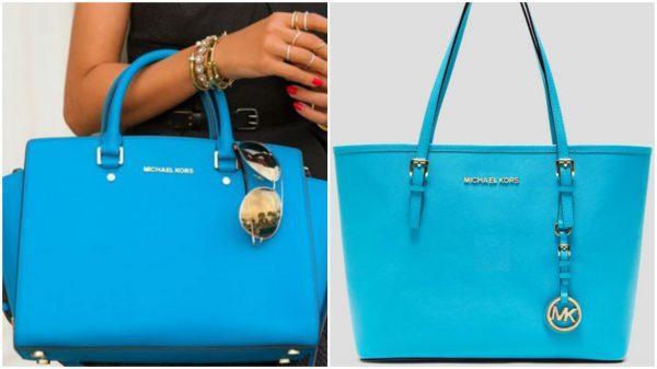 Модные сумки голубого оттенка