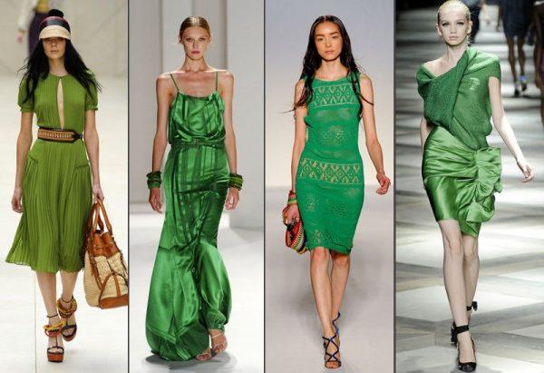Зеленый цвет снова в моде