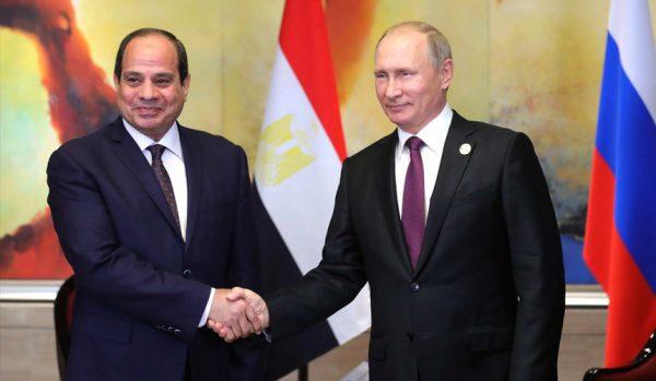 Владимир Путин на встрече с президентом Египта