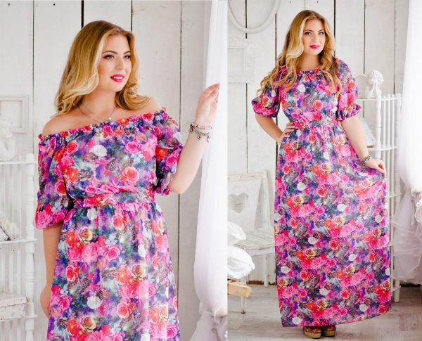 Платье в цветочном принте