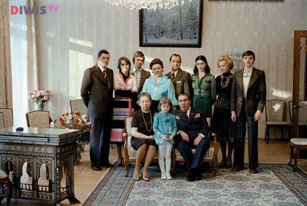 Семейное фото Л.И.Брежнева