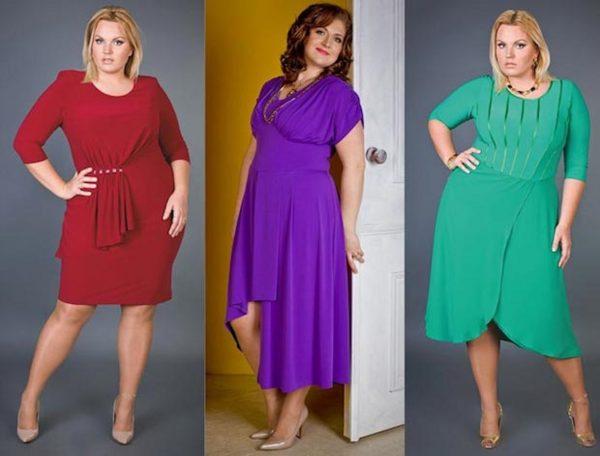 Яркие платья для полных женщин