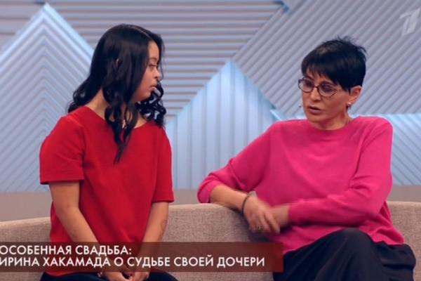 """Ирина Хакамада и дочь Мария на программе """"Пусть говорят"""""""