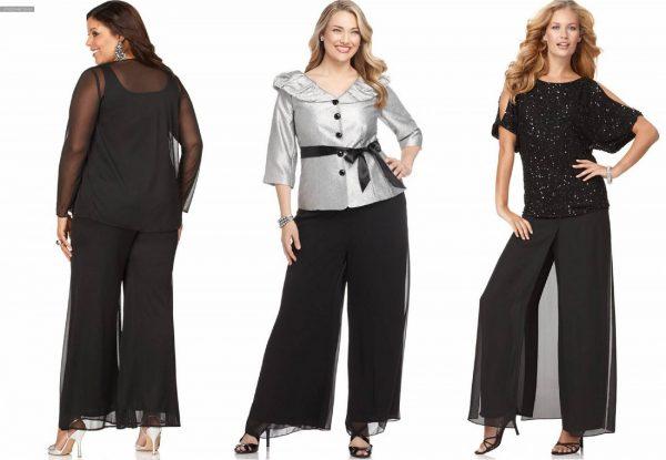 Юбка-брюки для полных женщин