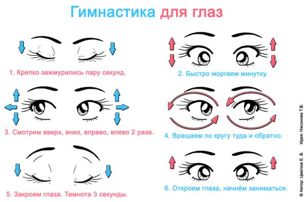 Полезная гимнастика для глаз