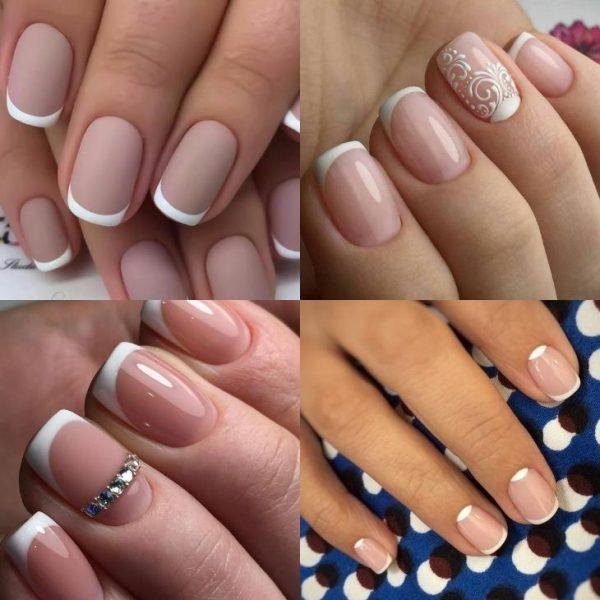 Маникюр-френч на коротких ногтях