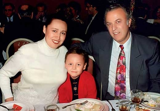 Резник с экс-женой и сыном