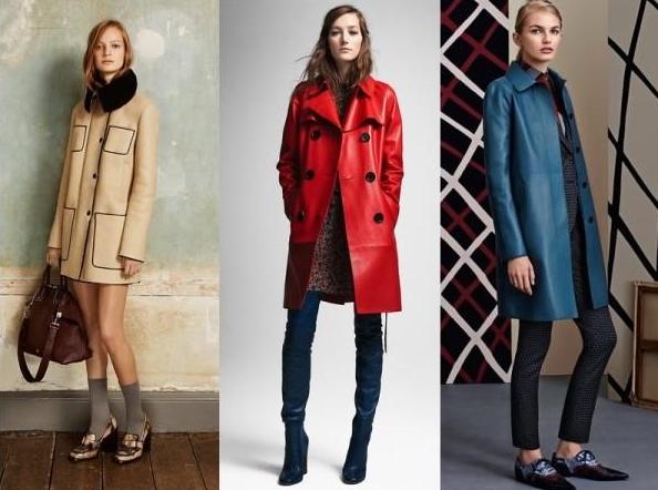 Кожаные пальто для женщин