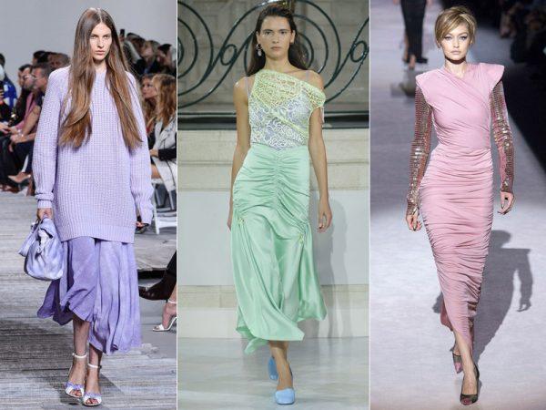 Модные наряды пастельных тонов