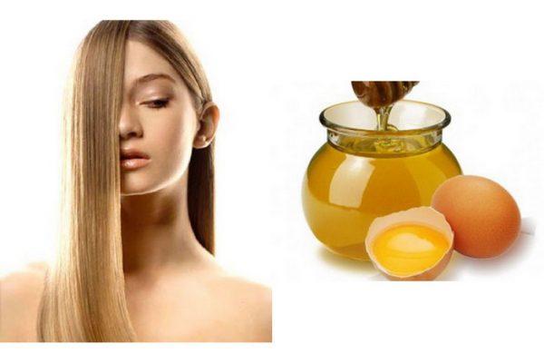 Маска из яичного желтка с медом