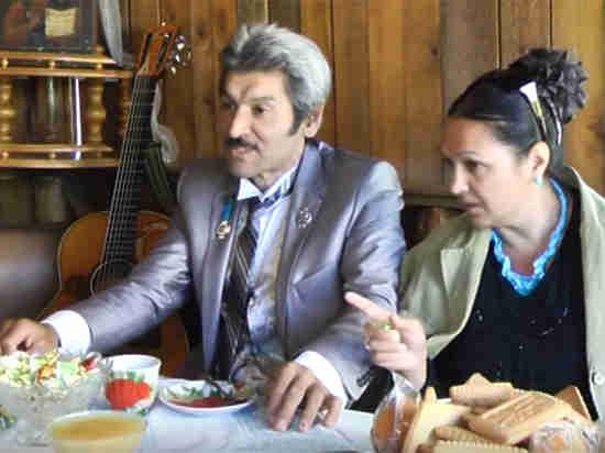Актер со своей женой Натальей